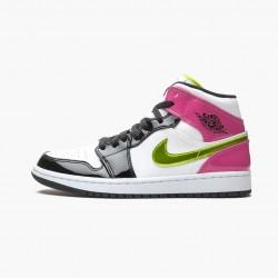 "Air Jordan 1 Mid White Black ""Cyber Pink"" CZ9834-100"