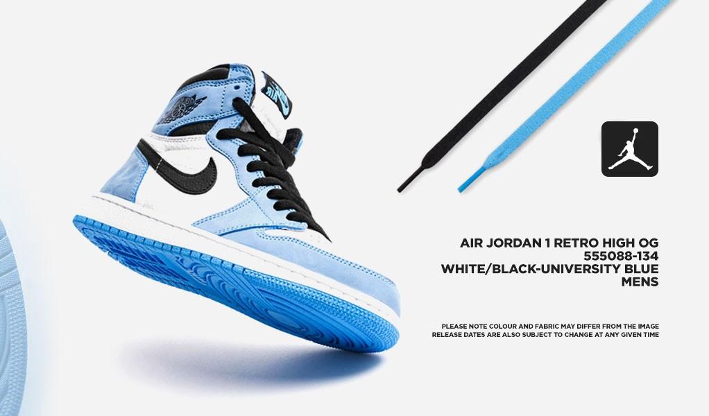 "Air Jordan 1 Retro High ""White University Blue Black"""