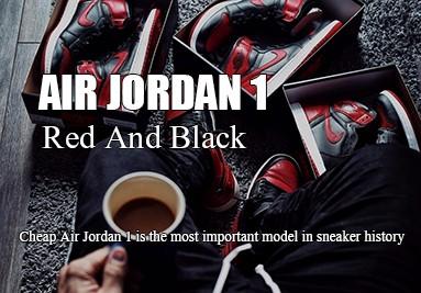 air jordan 1 red and black